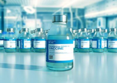 Covid-19 vaccine in small bottles