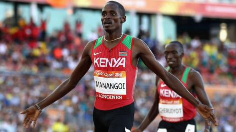 Kenyan Elijah Manangoi in action at the 2018 Commonwealth Games. Picture credit: twitter.com/sportsmonthlyke