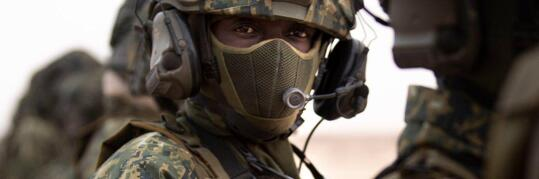 File photo of a US Africom soldier. Picture: Twitter/@USAfricaCommand